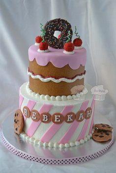 Bake Shoppe themed birthday cake love this Gorgeous Cakes, Pretty Cakes, Amazing Cakes, Themed Birthday Cakes, Themed Cakes, Cupcakes, Cupcake Cakes, Deco Cupcake, Fantasy Cake