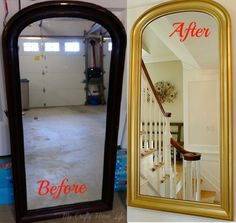 My Crafty Home Life - mirror makeover