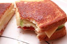 Grilled Smoked Gouda, Bacon, & Granny Smith Sandwiches