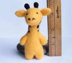 I WANT THIS!!!!!   NEW  Needle Felted Giraffe by 13Chestnuts on Etsy, $18.00