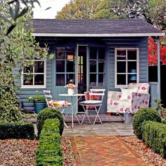 Veranda and lots of windows. Perfect. Shed Chic book