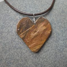 Petrified Wood pendant necklace  large love by NaturesArtMelbourne, $57.00
