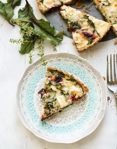 Beetroot, leek and feta pie