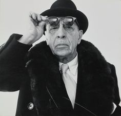 Richard Avedon (1923 - 2004), Igor Stravinsky, c.1959, épreuve argentique, don de l'artiste en 1965 © The Richard Avedon Fondation