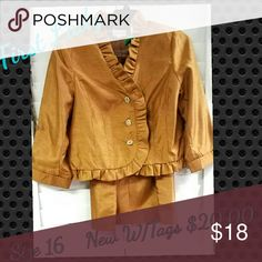 FIRST LADY 2PC SUIT Gold/Bronze Other
