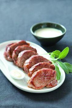 Médaillons de filet mignon à la crème d'ail - Larousse Cuisine