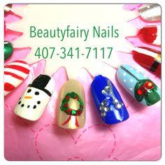 Christmas nail art #Nails #nailtech #nailart #christmas #fun #bookme #kissimmee #florida #beautyfairynails