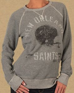 New Orleans Saints Sweatshirt {Wish I knew where this was from!}