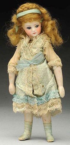 Rare French Bisque Mignonette Doll.