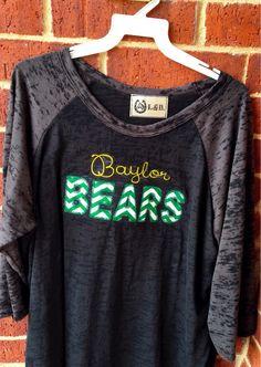 Baylor Spirit Shirt by BowPeepandhersheep on Etsy, $25.00