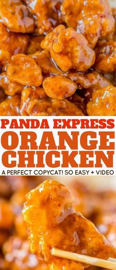 Panda Express Orange Chicken with tender chicken thighs fried crisp and tossed in a magical perfect-copycat sauce! Panda Express Orange Chicken with tender chicken thighs fried crisp and tossed in a magical perfect-copycat sauce! Orange Chicken Sauce, Orange Chicken Recipes, Chinese Orange Chicken, Orange Chicken Panda Recipe, Chinese Orange Sauce Recipe, Recipe Chicken, Orange Chicken Recipe Using Marmalade, Recipes With Chicken Thighs, Baked Orange Chicken