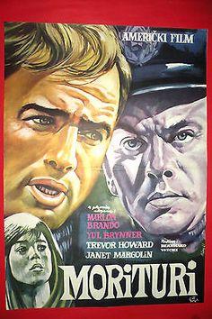 Morituri 1966 Marlon Brando Yul Brynner Mega Rare Exyu Movie Poster