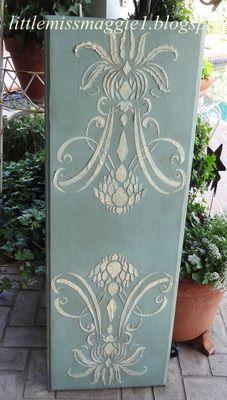 White on White Raised Plaster Panel