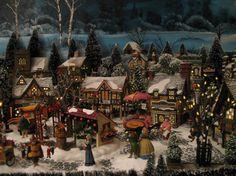Christmas Village:  Dickens Village: Artist: Connie