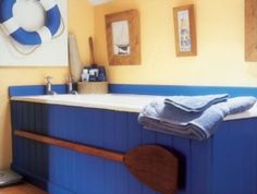 sail downstream in this coastal chic bathroom