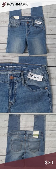 NWT Old Navy light wash super skinny midrise jeans NWT Old Navy light wash super skinny midrise blue jeans. From a smoke-free home.  Size 4  EBW/B3 Old Navy Jeans