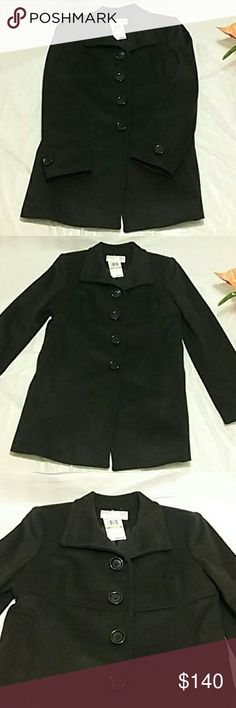 NEW Michael Kors peacoat Brand new tags still attached dark black 4  button-down Michael Kors peacoat cufflink sleeves all the buttons say Michael Kors. MAKE A OFFER Michael Kors Jackets & Coats Pea Coats