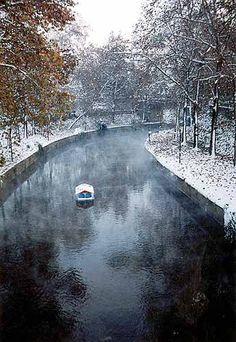 Lithaios river crosses #Trikala city on a winter's day, #exploregreece_hellenidutyfree