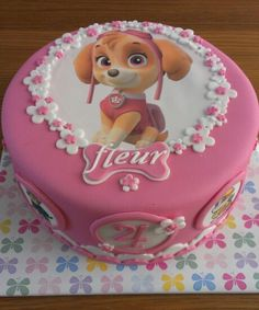 paw patrol birthday cakes for girls