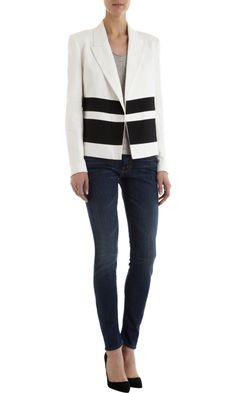 Laveer black stripe jacket at Barneys NY
