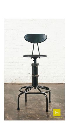 Furniture Bar Furniture Conscientious Industrial Chic Metal Round Seat Adjustable Height Bar Stool With Curve Backrest