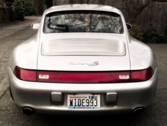 "Taillight Strip of a Porsche 993 Carrera 4S - a true ""WIDE993"""
