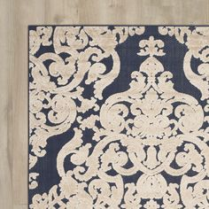 Found it at Wayfair - Thaxted Navy Indoor/Outdoor Area Rug