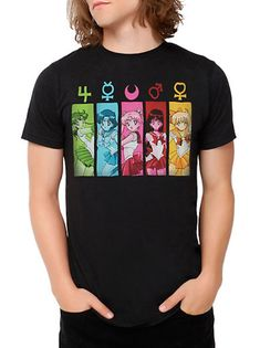 Official Sailor Moon Mens T-Shirt! Buy here http://www.moonkitty.net/buy-new-sailor-moon-tshirts.php