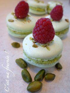 C'est+ma+fournée+!:+Macarons+pistache+framboise+(Christophe+Felder)