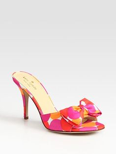kate spade color cotton bow heels