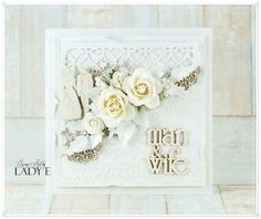 Wild Orchid Crafts: 2 White Wedding Cards