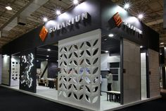 Stand Solarium Revestimentos. Expo Revestir 2015. Montagem Griffe Stands.