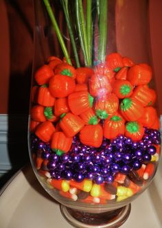 Halloween Arrangement with candies
