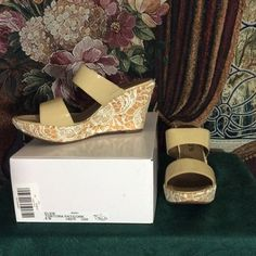 """Statement Style"" Host Pick Wedges NWOT Flirty and feminine lace wedges for summer. Never worn. Come with shoe bags and box. Also goes with lace blazer in separate listing. Chico's Shoes"
