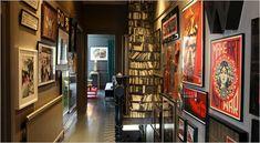 14 Interieur Designs mit attraktiver Wanddeko - coole Tapetenmuster, die Bücherregale nachmachen
