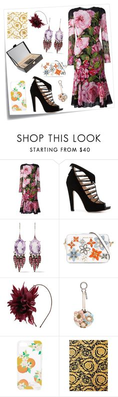 """Flower Style..**"" by yagna ❤ liked on Polyvore featuring Post-It, Dolce&Gabbana, Chloe Gosselin, Alexis Bittar, MICHAEL Michael Kors, Nanà Firenze, Fendi, Kate Spade, Versace and vintage"
