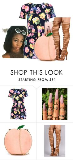 """""""Untitled #1542"""" by melaninprincess-16 ❤ liked on Polyvore featuring Quiz and Charlotte Olympia"""