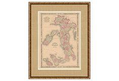 1860s Map of Italy on OneKingsLane.com