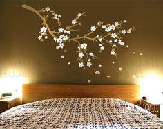 Ramo di ciliegio fiore fiore albero camera da letto di NouWall