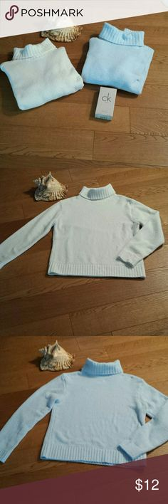 SONOMA  TURTLENECK  SWEATER BLUE OR IVORY Sold separately, both are exactly the same just different colors. Polyester and nylon, washable. Excellent condition. So  soft  and cuddly  you will not want to take it off. Sonoma Sweaters Cowl & Turtlenecks
