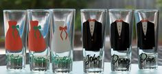 10 Personalized Bridesmaid and Groomsman Shot Glasses- Great Bridesmaid Gift and Groomsmen Gift on Etsy, $60.00