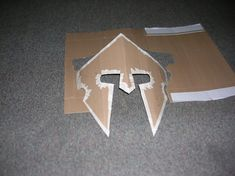 How to Make a Roman Helmet | Cardboard Spartan Helmet Template
