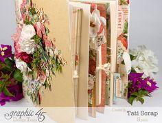 Tati, Wedding Planner, Mixed Media Album, Time to Flourish, Product by Graphic 45, Photo20