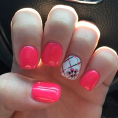 Neon Pink | Easy Spring Nail Designs for Short Nails