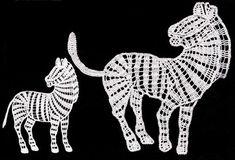 Схема вязания крючком, зебра