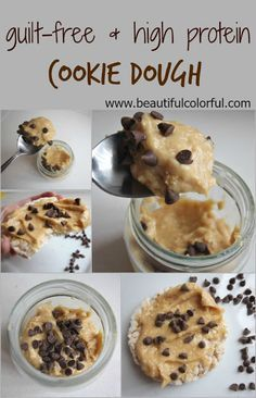 high-protein low-carb recipe, cookie dough, counting macros, fitness recipe, post workout snack