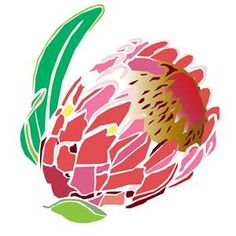 Protea Cleaning & Recycling - Home Stencil Art, Stencils, Sketch Drawing Images, Picture Templates, Protea Flower, African Flowers, Zentangle Drawings, Fabric Painting, Printing On Fabric