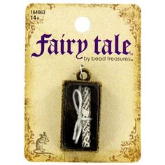 Fairy Tale by Bead Treasures Antique Brass Tied Scroll in Box Charm | Shop Hobby Lobby