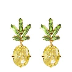 Infuse your style with a taste of the tropics with these 7 peppy pineapple finds! Pineapple Earrings, Pineapple Jewelry, Piercings, Cute Pineapple, Pineapple Express, Jewel Box, Diamond Are A Girls Best Friend, Juicy Couture, Making Ideas