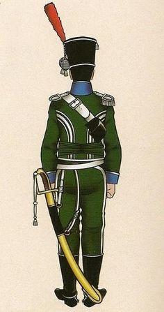 Cazadores Voluntarios de España 1808 Teniente